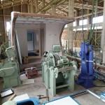 20151116新「緑洋丸」建造状況(甲板機械の配置)
