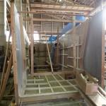 20151002新「緑洋丸」建造状況(船室の木型製作)