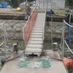 131022観測桟橋修理2