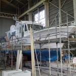 20151203新「緑洋丸」建造状況(最終工程)